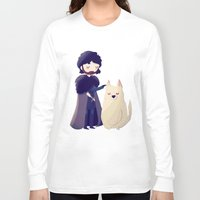thrones Long Sleeve T-shirts featuring Night Gathers by Nan Lawson