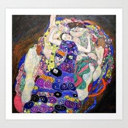 Gustav Klimt - The Virgin - Digital Remastered Edition Art Print