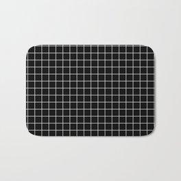 Windowpane Black Bath Mat