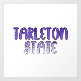 Tarleton State Bubbled Art Print