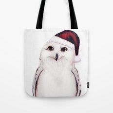 Snowy Christmas Owl  Tote Bag