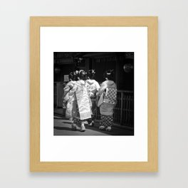 Black & White Geisha Japan (Gion II 舞妓) Framed Art Print