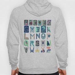 Alphabet Letter Decor Design Art Pattern Hoody