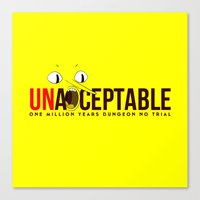 lemongrab Canvas Prints featuring UNACCEPTABLE by robin