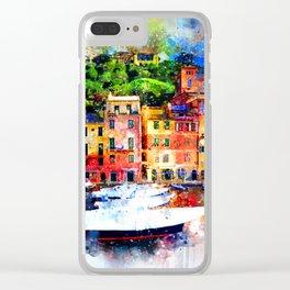 Watercolor Pier Paint Clear iPhone Case