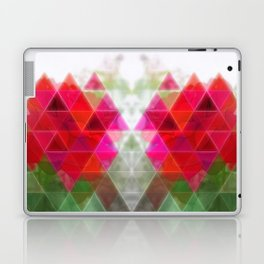 Red Rose Edges Art Triangles 1 Laptop & iPad Skin