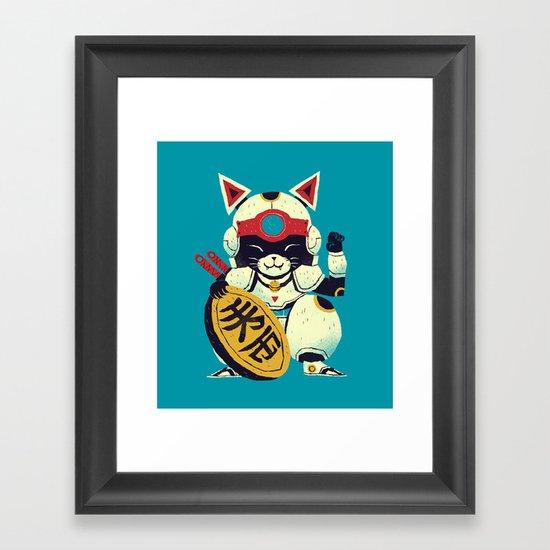 fortune pizza cat Framed Art Print
