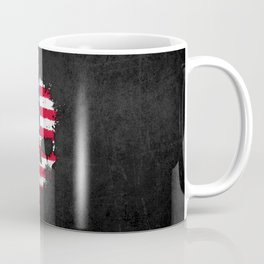 Flag of The United States on a Chaotic Splatter Skull Coffee Mug