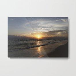 Bonita Beach Sunset Metal Print