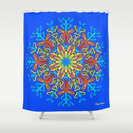 Gracias a la Vida (Azul Brillante) Shower Curtain