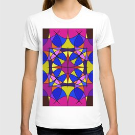 Dark winelilac  bottle stitch. Gloomy stained glass window for an old castle and a window. T-shirt