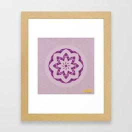 Crown Chakra Mandala Framed Art Print