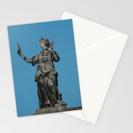 The Muse of Comedy Thalia atop the Clarendon Building Oxford University England Stationery Cards