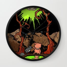 Dig Big Pig Wall Clock