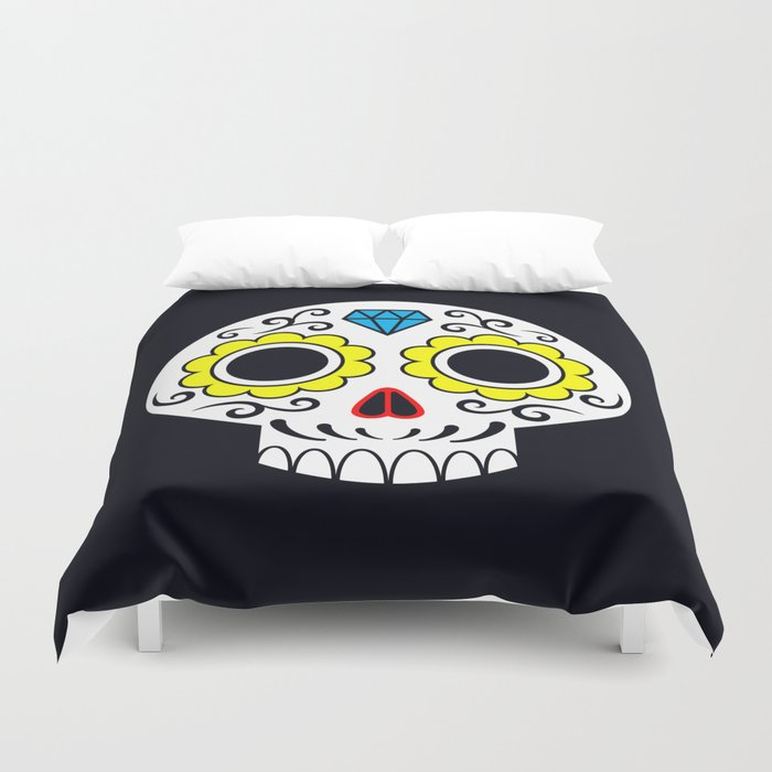 Sugar skull for a cake Duvet Cover