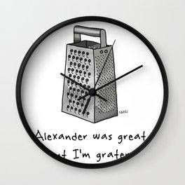 Alexander was Great Wall Clock