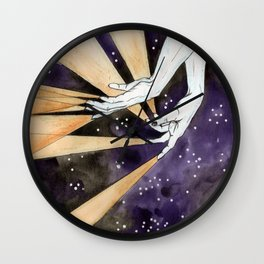 magic fingers in space Wall Clock