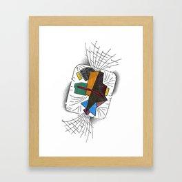 Candy Twist Framed Art Print