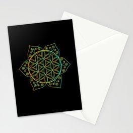 METATRONS CUBE SACRED GEOMETRY Mandala Yoga Stationery Cards