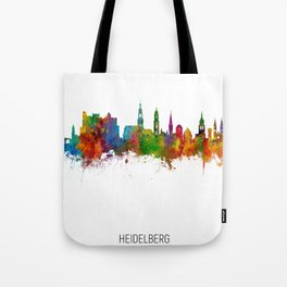 Heidelberg Germany Skyline Tote Bag