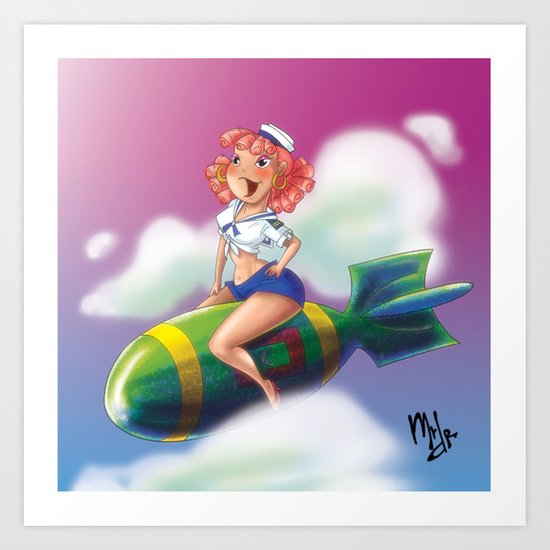 MV Pin Up Gal Art Print
