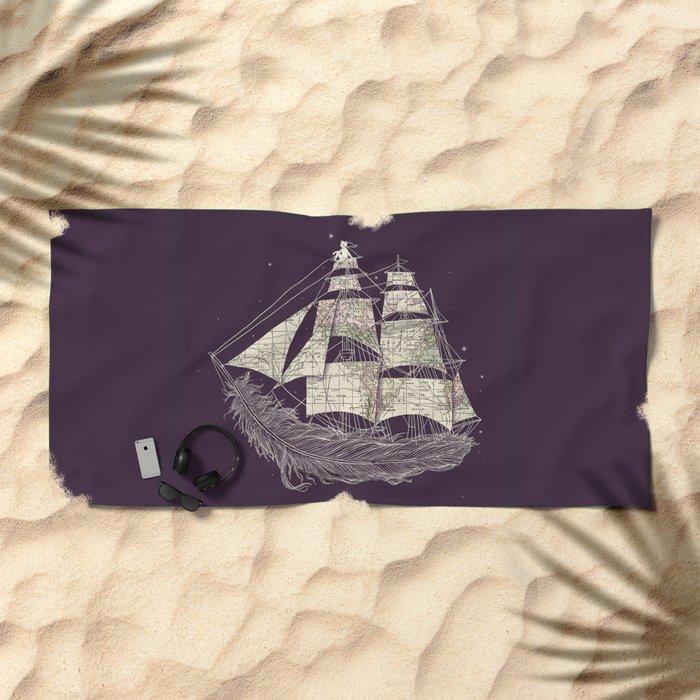Wherever the wind blows Beach Towel