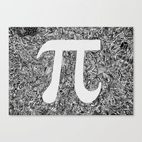 pi Canvas Prints featuring PI by Nora