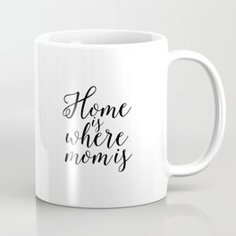 Home Sign Printable Quotes Home Is Where Mom Is Mother Gift Inspirational Quotes Love Sign Coffee Mug
