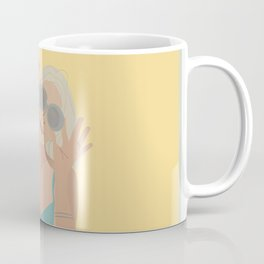 Shades-Girl With Sunglasses Illustration Coffee Mug