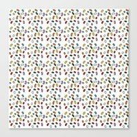 pills Canvas Prints featuring Pills by victoria negrin
