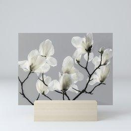 Gray Magnolia and White Mini Art Print