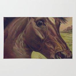 Vintage Horse Illustration (1893) Rug