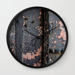 Rusty Fort Door Detail Wall Clock