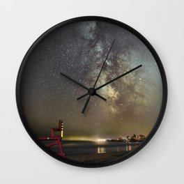 Lifeguard chair and the Milkyway Wall Clock