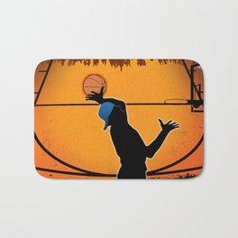 Basketball Player Silhouette Bath Mat