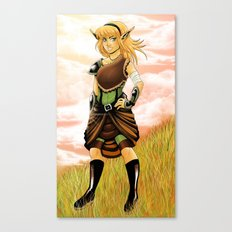 Warrior on the Hill Canvas Print