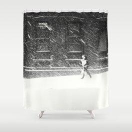 Snow Surfer Shower Curtain