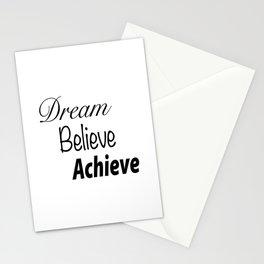 Dream Believe Achieve Bold Stationery Cards