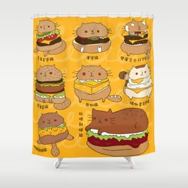 Cat burgers Shower Curtain