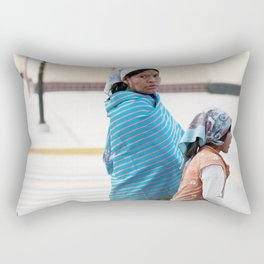 Tarahumara Indigenous Mother and Child in Mexico Rectangular Pillow