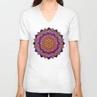 universe V-neck T-shirts featuring Universe  by LudaNayvelt