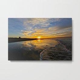 Huntington Beach Sunrise    12/8/13 Metal Print