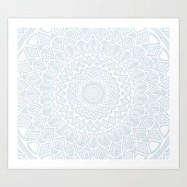 Minimal Minimalistic Light Cool Gray Mandala Art Print
