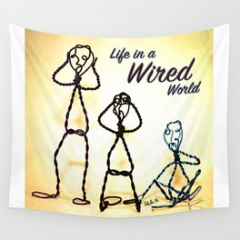 Life in a Wired World Wall Tapestry