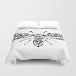 WASP beetle psychedelic / zentangle style Duvet Cover