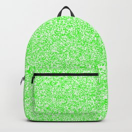 Spacey Melange - White and Neon Green Backpack