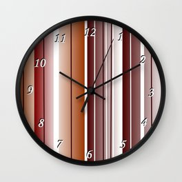 Coffee Color Wall Clock