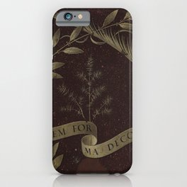 "Leonardo Da Vinci ""Wreath of Laurel, Palm, and Juniper with a Scroll inscribed Virtutem Forma Decor"" iPhone Case"