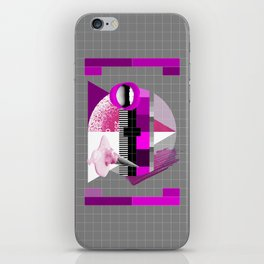 Waiting for the show to begin (Test Pattern 5) iPhone Skin
