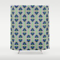 art deco Shower Curtains featuring Art Deco by MartaBerk